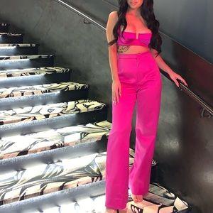 house of cb london pink pant set